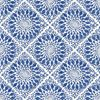 Picture of Maureen Blue Medallion Wallpaper