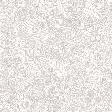 Picture of Schunard Off-White Floral Wallpaper