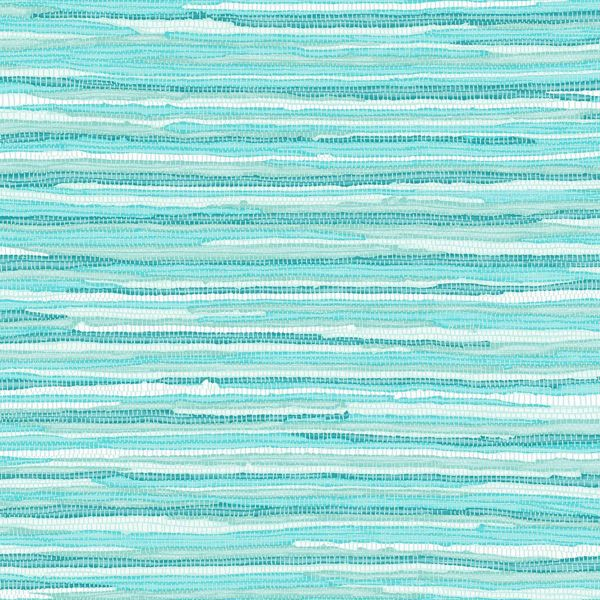 Picture of Cabana Turquoise Faux Grasscloth Wallpaper