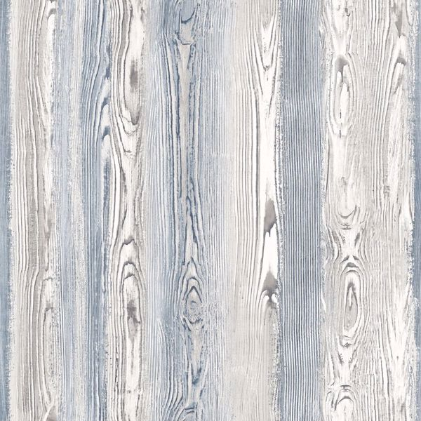 Picture of Cady Blue Wood Panel Wallpaper