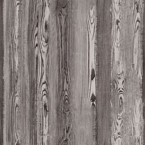 Picture of Cady Brown Wood Panel Wallpaper