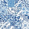 Picture of Cohen Blue Tile Wallpaper