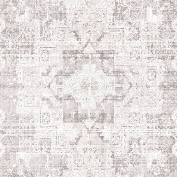 Picture of Desmond Beige Distressed Medallion Wallpaper