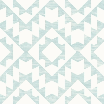 Picture of Fantine Mint Geometric Wallpaper