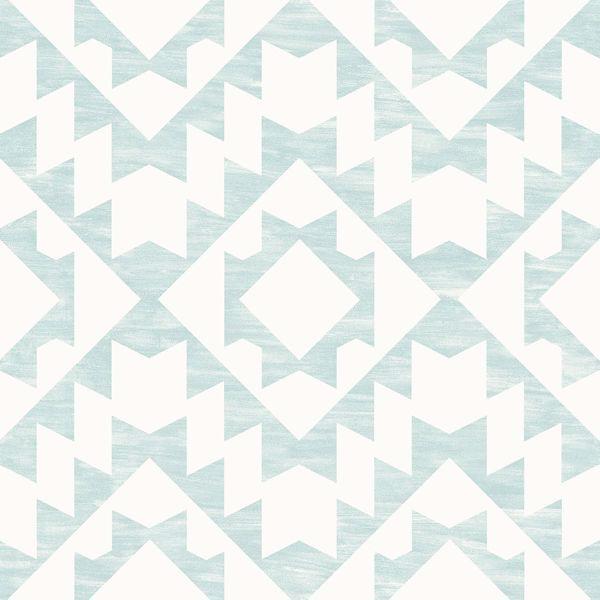 Picture of Fantine Mint Geometric Wallpaper