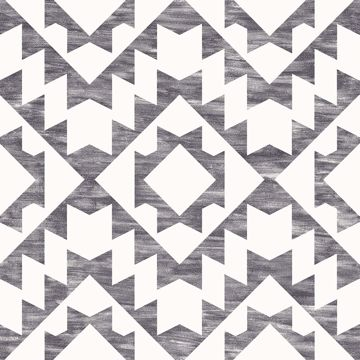 Picture of Fantine Black Geometric Wallpaper