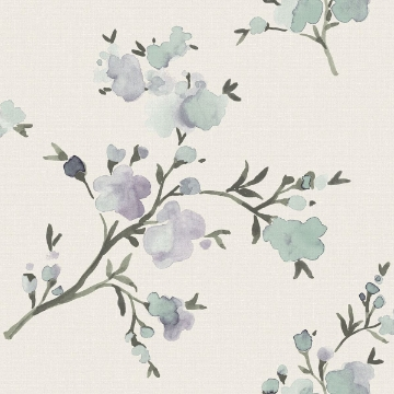 Picture of Glinda Blue Floral Wallpaper
