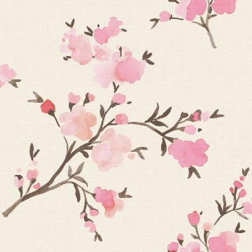 Picture of Glinda Pink Floral Wallpaper