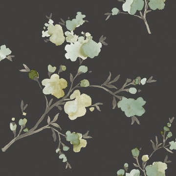 Picture of Glinda Sage Floral Wallpaper