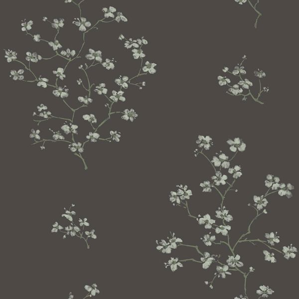 Picture of Morrible Black Floral Wallpaper