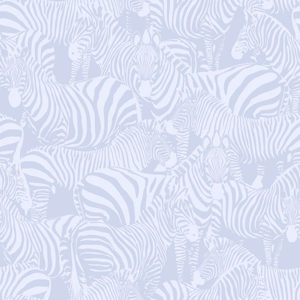 Picture of Jemima Periwinkle Zebra Wallpaper