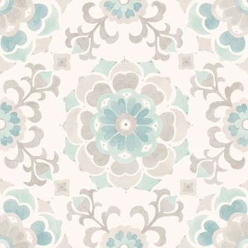 Picture of Tracy Seafoam Medallion Wallpaper