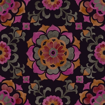 Picture of Tracy Multicolor Medallion Wallpaper