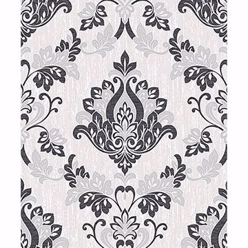 Picture of Senator Black Damask Wallpaper