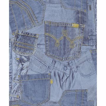Picture of Inky Denim Jean Pocket Wallpaper