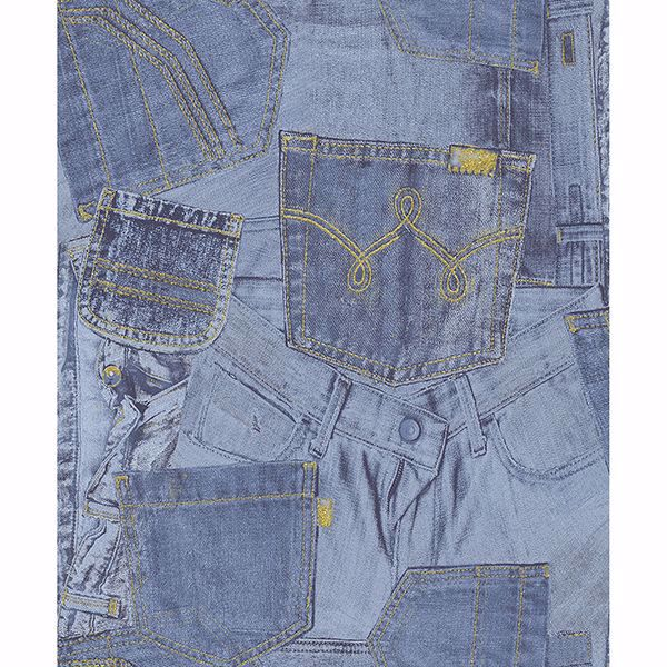 Picture of Inky Denim Jean Pocket Wallpaper
