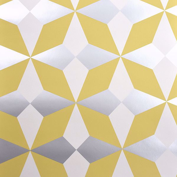 Picture of Newby Mustard Geometric Wallpaper