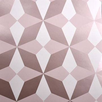 Picture of Newby Rose Gold Geometric Wallpaper