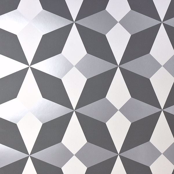 Picture of Newby Silver Geometric Wallpaper
