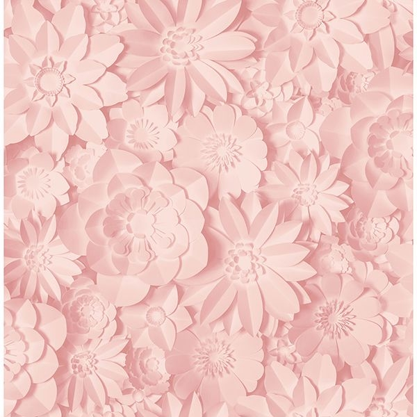 Picture of Dacre Pink Floral Wallpaper
