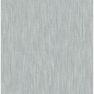 Picture of Chiniile Light Blue Faux Linen Wallpaper