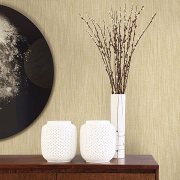 Picture of Chiniile Wheat Faux Linen Wallpaper