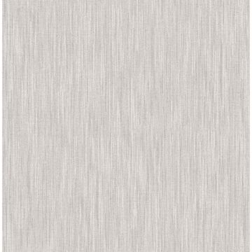 Picture of Chiniile Grey Faux Linen Wallpaper