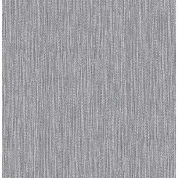 Picture of Raffia Charcoal Faux Grasscloth Wallpaper