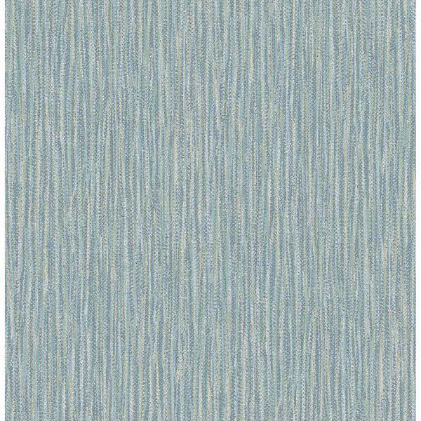Picture of Raffia Aqua Faux Grasscloth Wallpaper