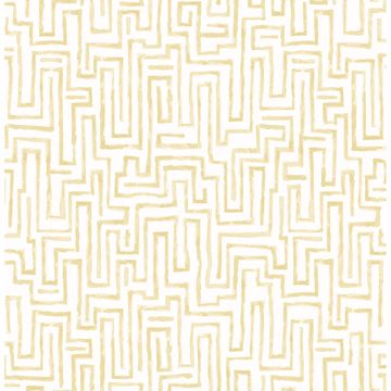Picture of Ramble Mustard Geometric Wallpaper