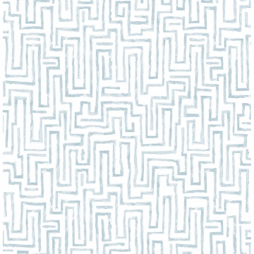 Picture of Ramble Blue Geometric Wallpaper