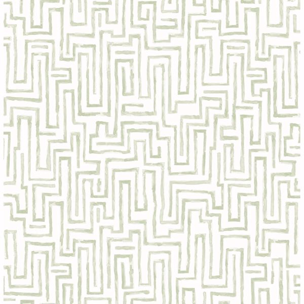 Picture of Ramble Sage Geometric Wallpaper