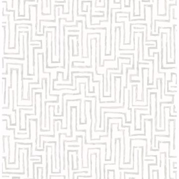 Picture of Ramble Grey Geometric Wallpaper