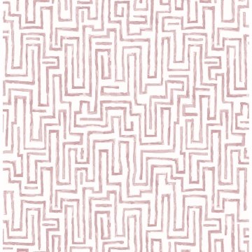 Picture of Ramble Pink Geometric Wallpaper