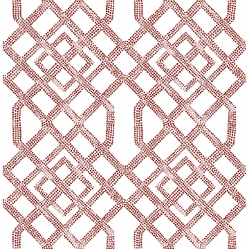 Picture of Traverse Red Trellis Wallpaper