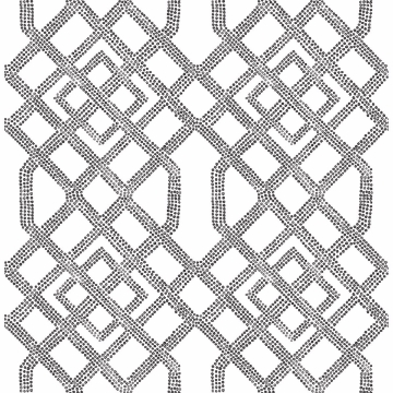 Picture of Traverse Black Trellis Wallpaper