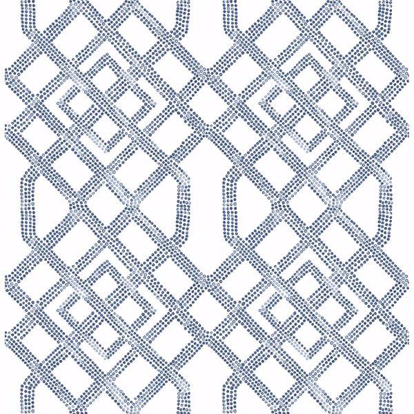 Picture of Traverse Blue Trellis Wallpaper