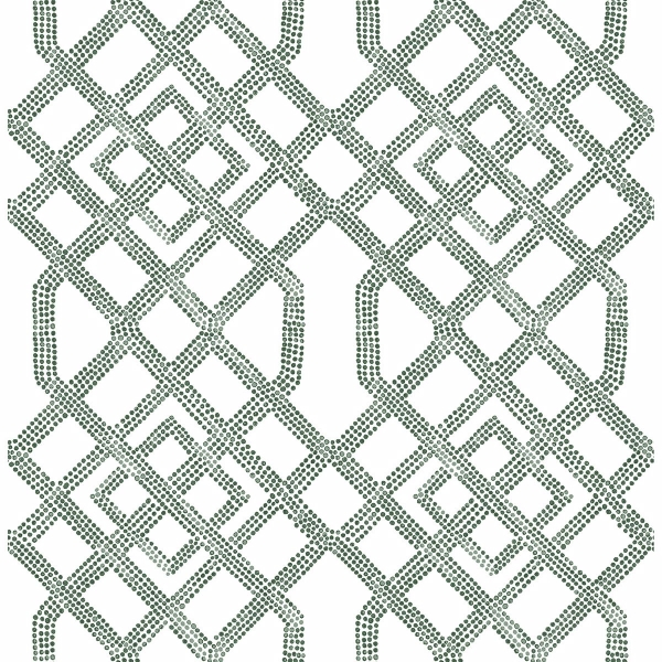 Picture of Traverse Dark Green Trellis Wallpaper