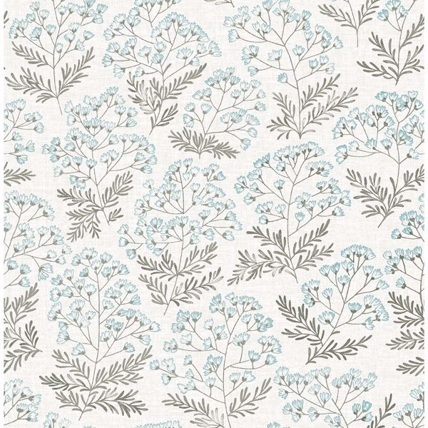 Picture of Floret Blue Floral Wallpaper