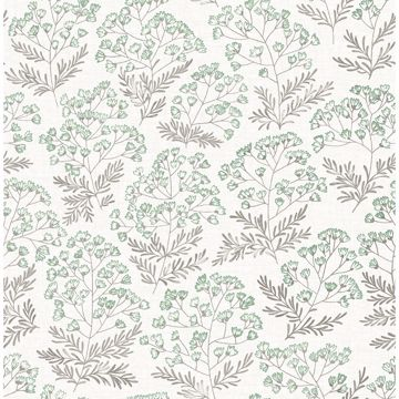 Picture of Floret Green Flora Wallpaper