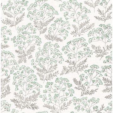 Picture of Floret Green Flora Wallpaper