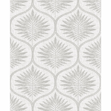 Picture of Laurel Light Grey Ogee Wallpaper