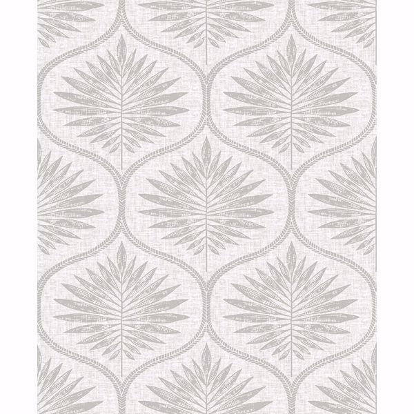 Picture of Laurel Light Grey Ogee Wallpaper