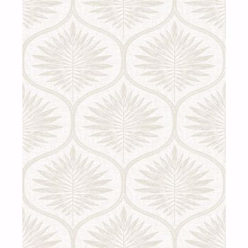 Picture of Laurel Bone Ogee Wallpaper