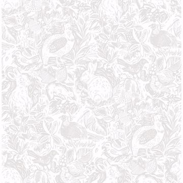 Picture of Revival Light Grey Fauna Wallpaper