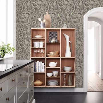 Picture of Revival Brown Fauna Wallpaper
