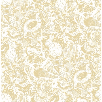 Picture of Revival Mustard Fauna Wallpaper