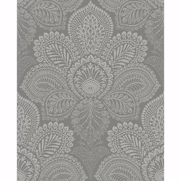 Picture of Triumph Grey Medallion Wallpaper