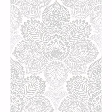 Picture of Triumph Off-White Medallion Wallpaper