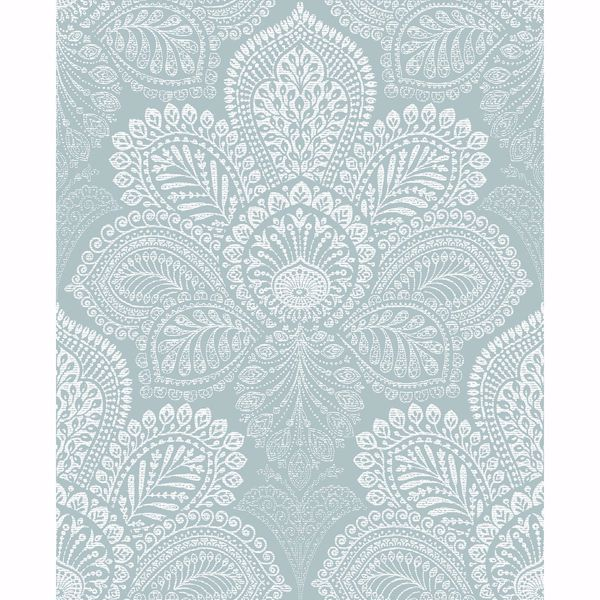 Picture of Triumph Light Blue Medallion Wallpaper